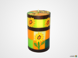 Nobunto Giftbox met 1 grote ronde stompkaars Alizeti