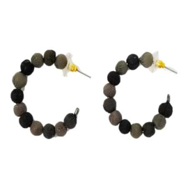 Kantha Noir Mini Hoops Earrings