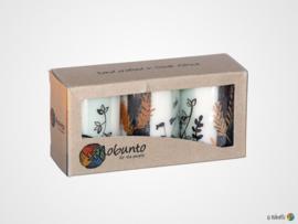 Nobunto Giftbox met 3 ronde stompkaarsen Kiwanja