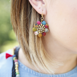 Kantha Sunflowers Earrings