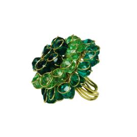 Chrysanthemum Ring Blauw/Groen