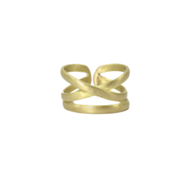 Linear X Ring Gold