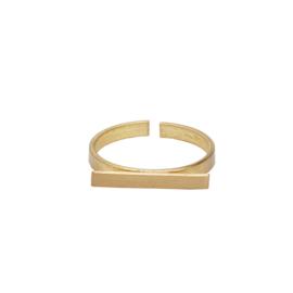 Horizontal Bar Ring Gold