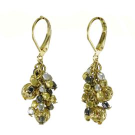 Metallic Mix Cluster Earrings