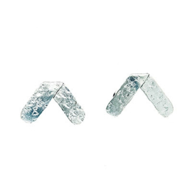 Axis Hammered Post Earrings Silver