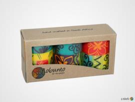 Nobunto Giftbox met 3 ronde stompkaarsen Matuko