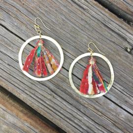 Kantha Encircled Hoops Earings