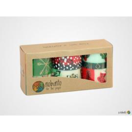 Nobunto Giftbox met 3 ronde stompkaarsen Ukhisimusi