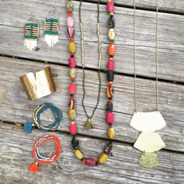 Kantha Kaleidoscope Necklace