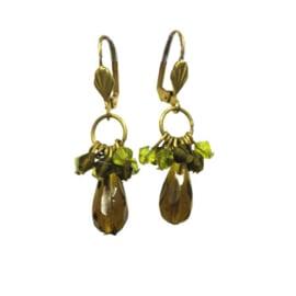 Cluster Earrings Olive