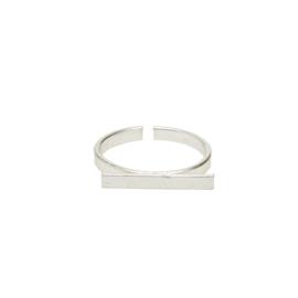 Horizontal Bar Ring Silver