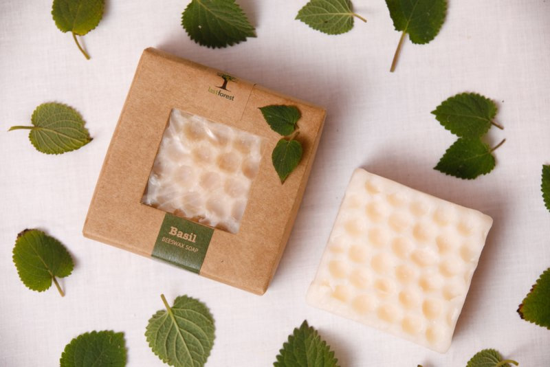 Last Forest Edge Beeswax Soap Basil set van 2