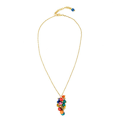 Kantha Cluster Necklace
