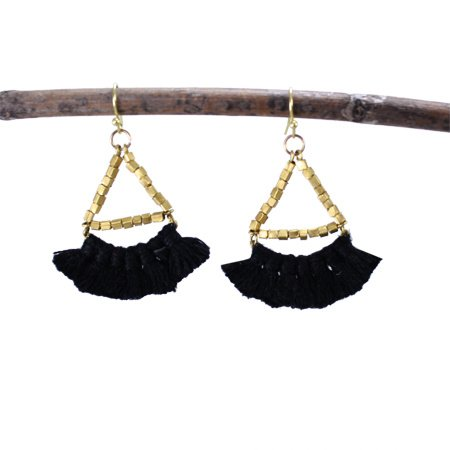 Fringed Noir Earrings