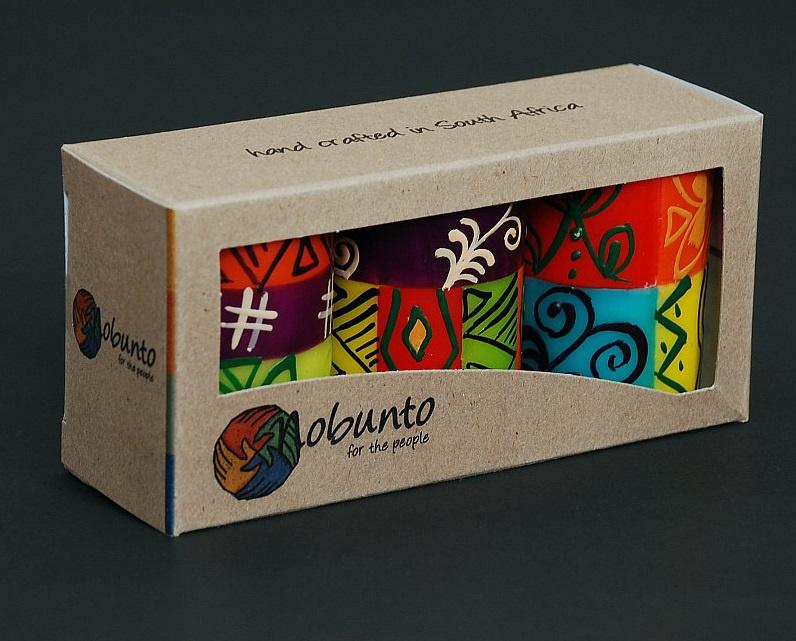 Nobunto Giftbox met 3 ronde stompkaarsen