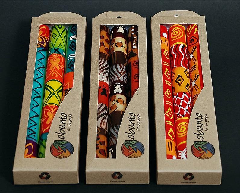 Nobunto Giftbox met 3 ronde dinnerkaarsen