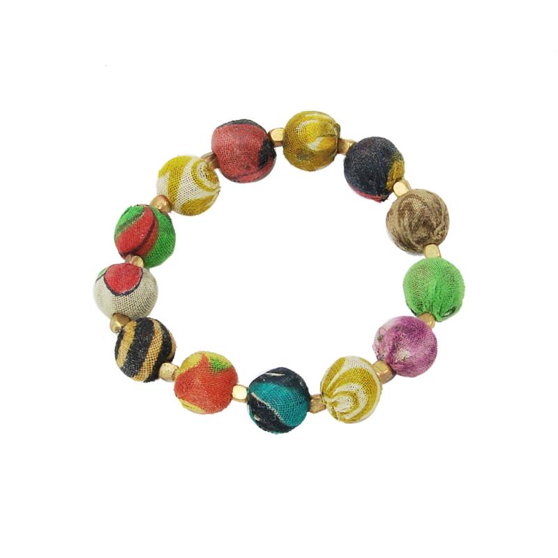 Kantha Bauble Bracelet Small
