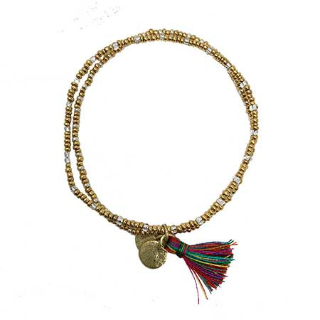 Gold Coast Tassel Bracelet - Multi