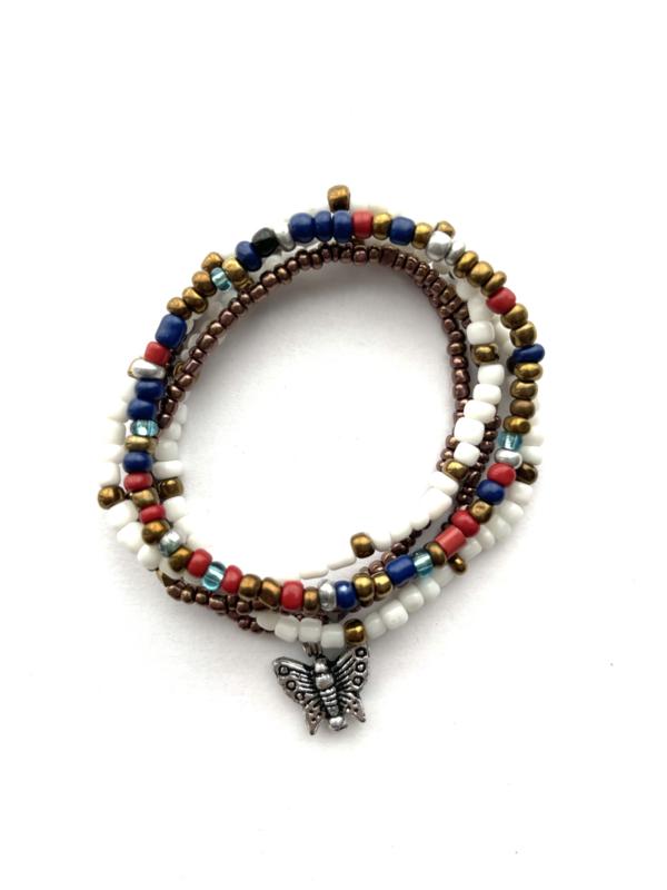 Set van 5 Masai Beads Armbandjes