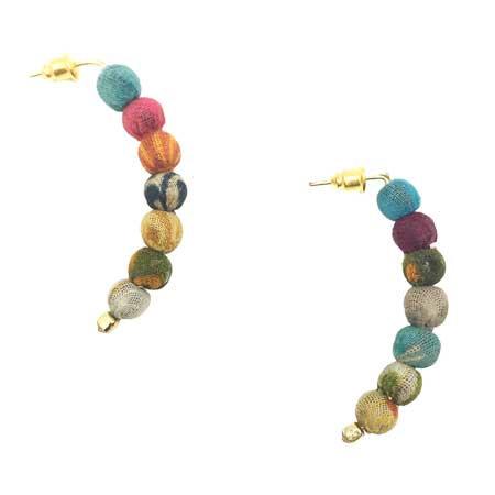 Kantha Petite Arc Earrings