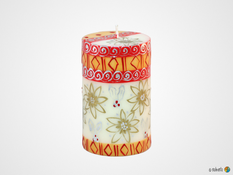 Nobunto Giftbox met 1 grote ronde stompkaars Kimeta