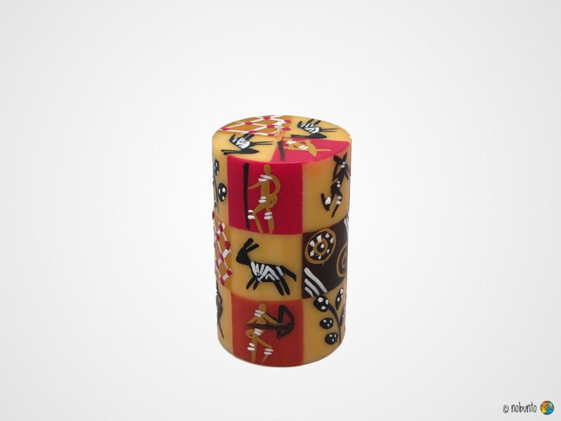 Nobunto Giftbox met 1 grote ronde stompkaars Damisi