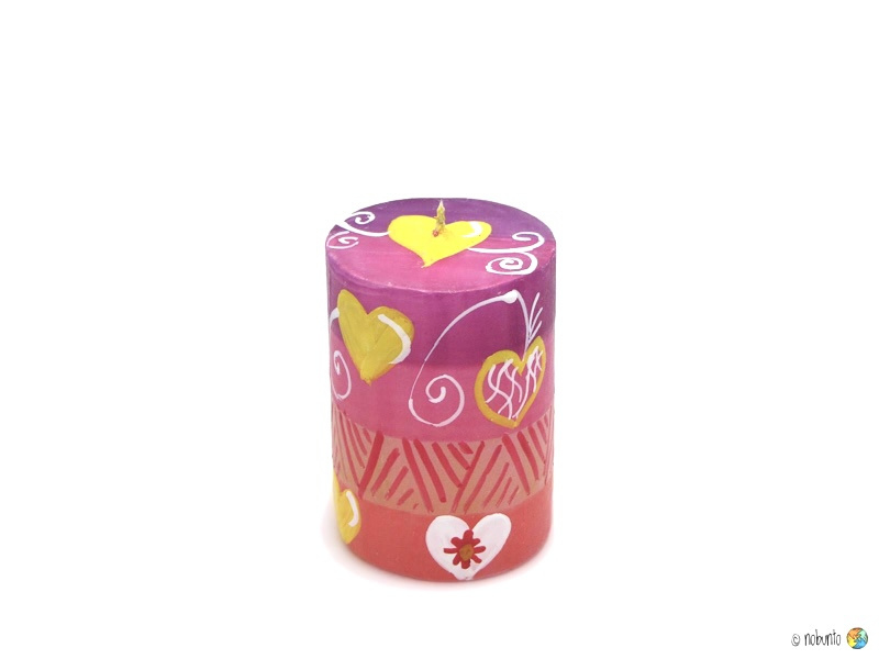 Nobunto Giftbox met 1 grote ronde stompkaars Ashiki