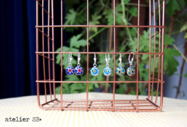 murano glas uit Venetië, wit-blauw