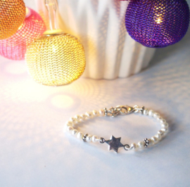 Parel armband met ster