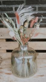 Vaas glas olijfgroen Medium