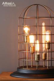 Tafellamp zwart brons