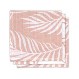 Monddoekje hydrofiel Pink blad (3st)