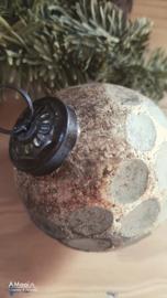 Kerstbal licht goud / hout