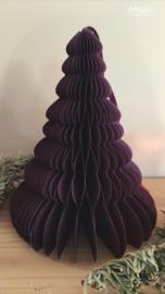 Kerstboom papier aubergine