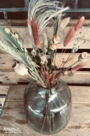 Droogbloemen 'la vie en rose'