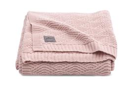 Deken river 100 x 150 knit roze