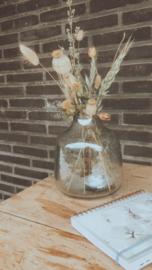 Vaas glas olijfgroen Small