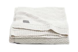 Deken river knit 100 x 150 gebroken wit