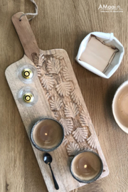 Tapasplank hout naturel snijwerk