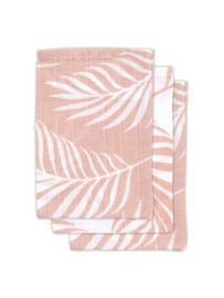 Washandje hydrofiel pink blad (3st)