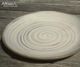klein wit bord 'spiraal'