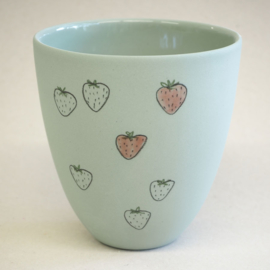 Cup food | Large | Green | Strawberry