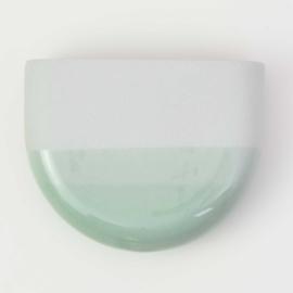 Dip wall vase | Half round | Mouse grey 071