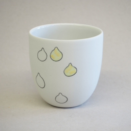 Cup food | Small | White | Lemon