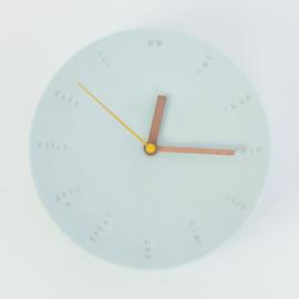 Clock - Large   Light blue