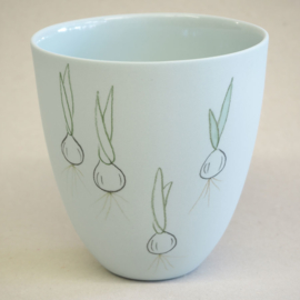 Cup food | Large | Light blue | Spring onion