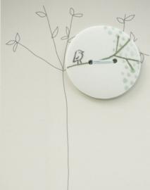 Button | Bird | White
