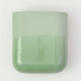 Dip wall vase | Short | Green 071