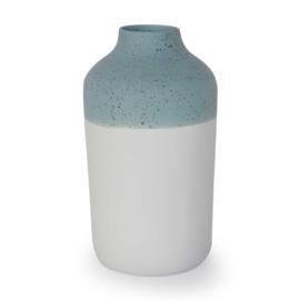 Clay vase | L | Blue | Dots