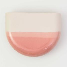 Dip wall vase | Half round | Nude 059